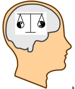 balanced yin yang mind