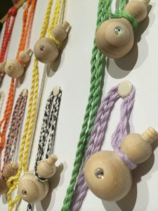 wooden diffusers close up hanging